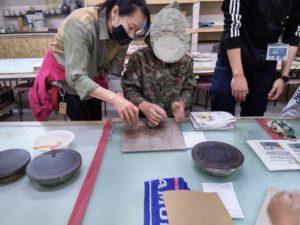 富士宮市の陶芸教室千居窯へ療育陶芸